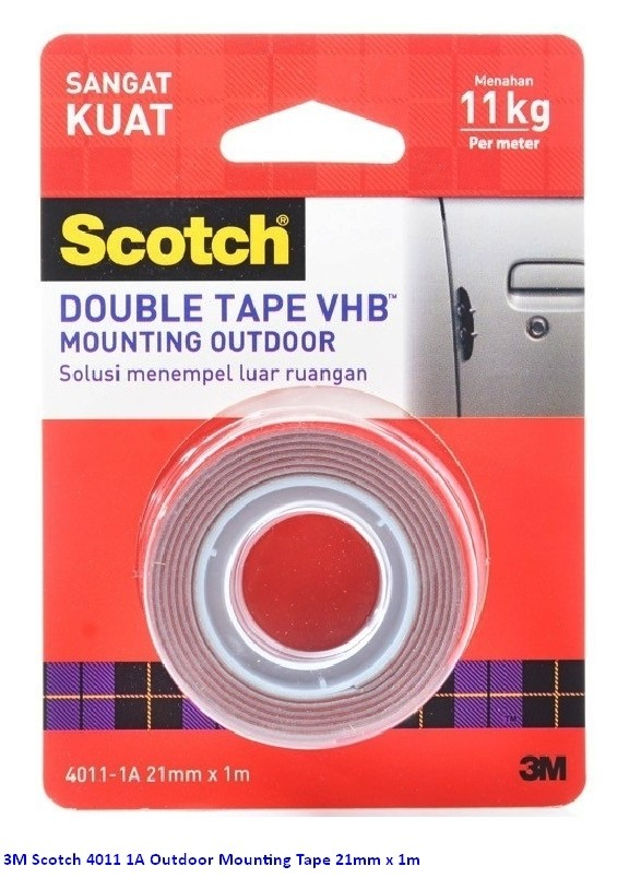 Scotch 3M 4011 1A Outdoor Mounting Tape 21mm x 1m