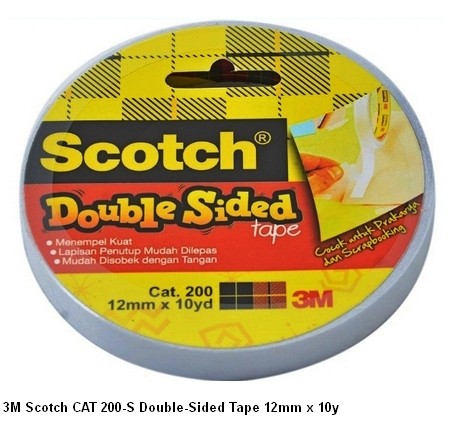 Scotch 3M 200-S D-Sided Tape 12mm x 10y