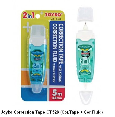 Supplier ATK Joyko Correction Tape CT-528 (Cor.Tape + Cor.Fluid) Harga Grosir