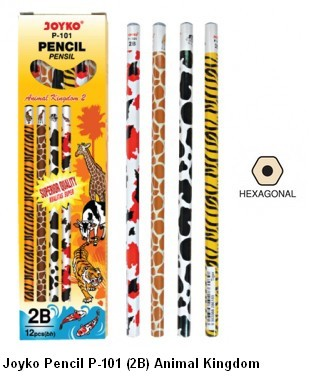 Supplier ATK Joyko Pensil P-101 (2B) Animal Kingdom Harga Grosir
