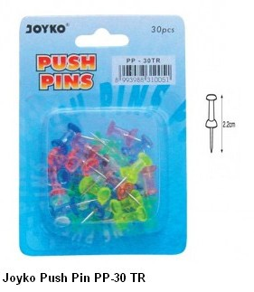 Supplier ATK Joyko Push Pin PP-30 TR Harga Grosir