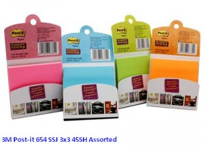 Supplier ATK Post-it 3M 654 SSJ 3x3 45SH Assorted Harga Grosir