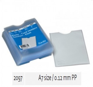 Supplier ATK Bantex 2097-08 Card Holder A7 0.12mm PP Harga Grosir