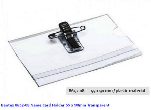 Supplier ATK Bantex 8652-08 Name Card Holder 55 x 90mm Transparent Harga Grosir