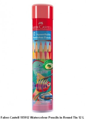 Supplier ATK Faber Castel 115912 Pensil Warna Cat Air Round 12 L Harga Grosir