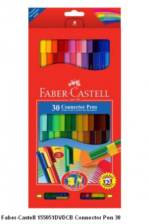 Supplier ATK Faber-Castell 155051DVDCB Connector Pen 30 Harga Grosir